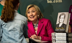 Hillary Clinton at a book signing for memoir in New York City
