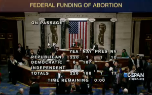 The House Of Representatives votes on H.R. 7