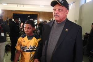 Jesse Jackson at a Feb. 10 press conference spoke out against the decision to strip Jackie Robinson West of its Little League national title.