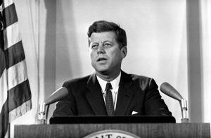President Kennedy addressing the nation on the Cuban missile crisis